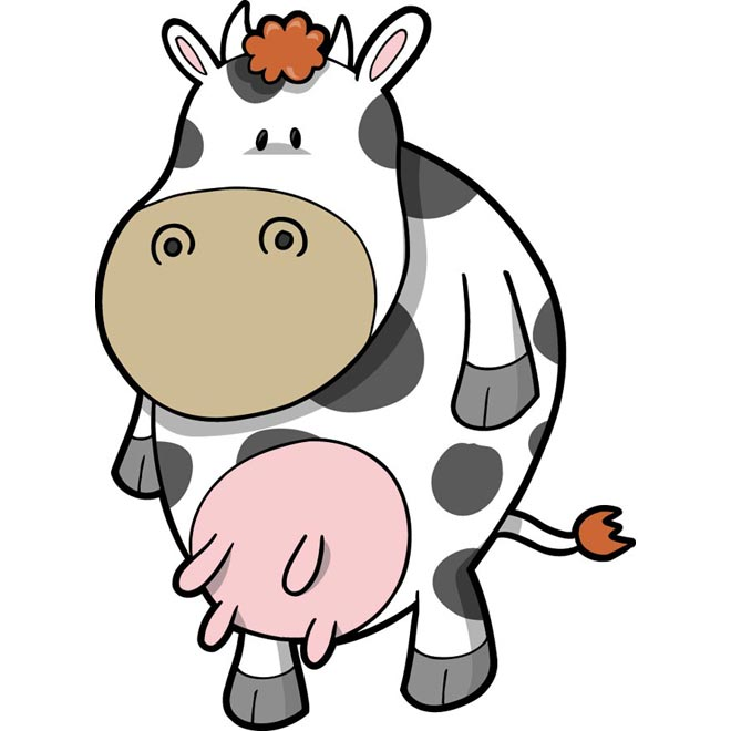 Cute Cow Head Drawing Cute Cow Drawing Illustration
