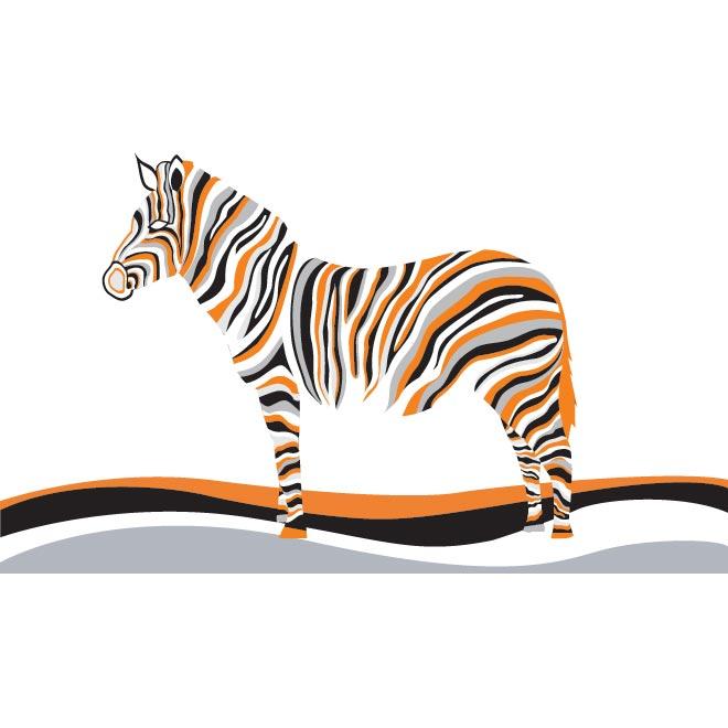 Zebra Line art illustration by cgvector