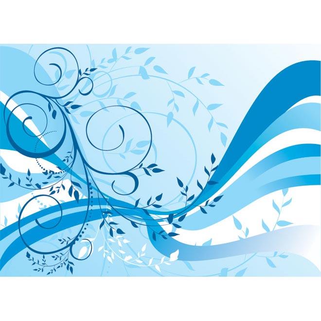 Line Art Wallpaper : Blue floral line art wallpaper by cgvector on deviantart