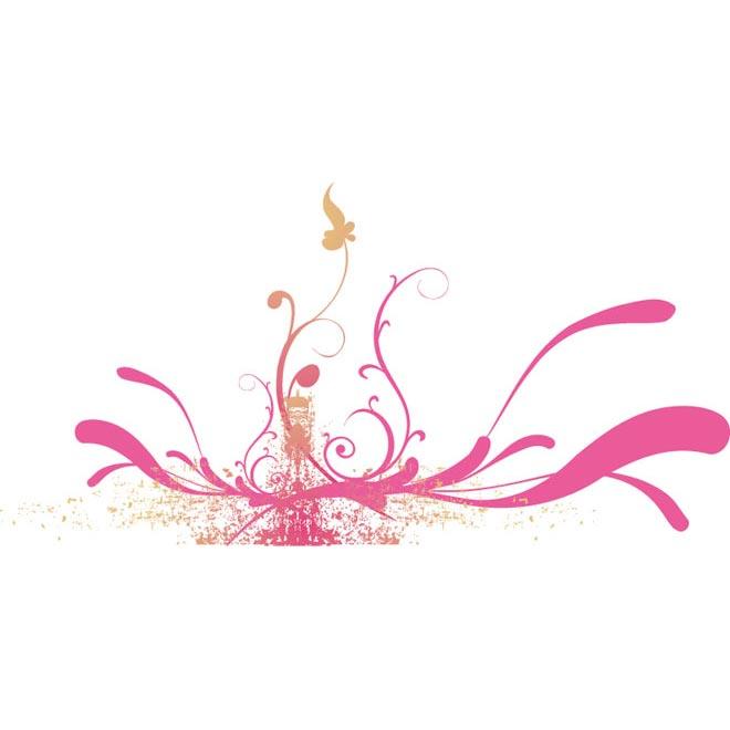 Floral Art Line Design : Pink lines floral art design by cgvector on deviantart
