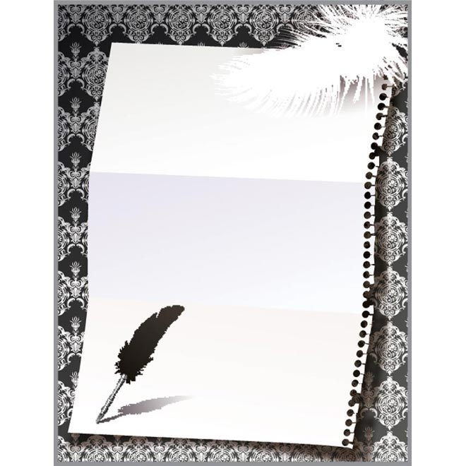 gray frame design with feather by cgvector on DeviantArt