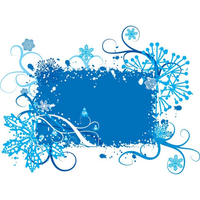 abstract beautiful blue floral frame art vector by cgvector on deviantART