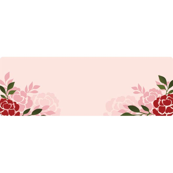 beautiful horizontal silhouette rose frame drawing by cgvector