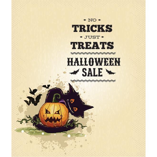 Free vector retro halloween sale poster by cgvector on DeviantArt