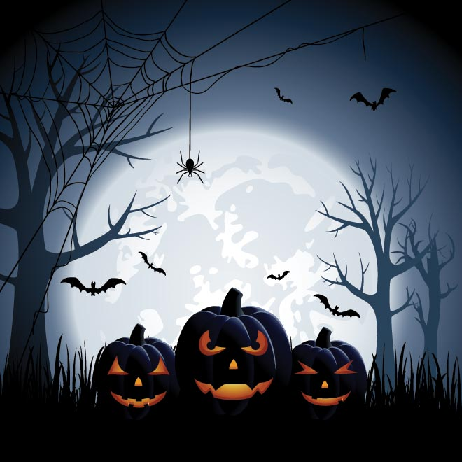 free vector happy halloween creepy template by cgvector on deviantart