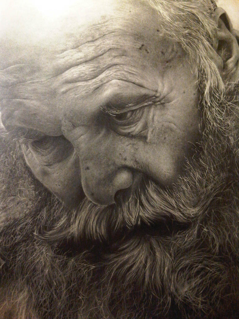 old mans face drawing - photo #42