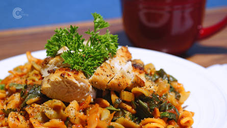 Chicken and fusilli by chinitowland