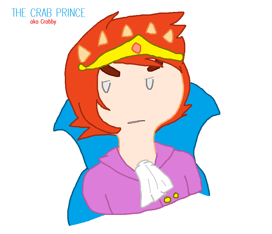 New OC- The Crab Prince by AskThePartyPrincess