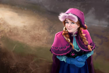 Princess Anna - Paint study cosplay by williamzel