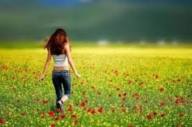 Feild Of Flowers An Girl by godzillarules10