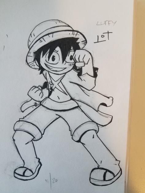 Luffy Fighting Stance by JazCooper