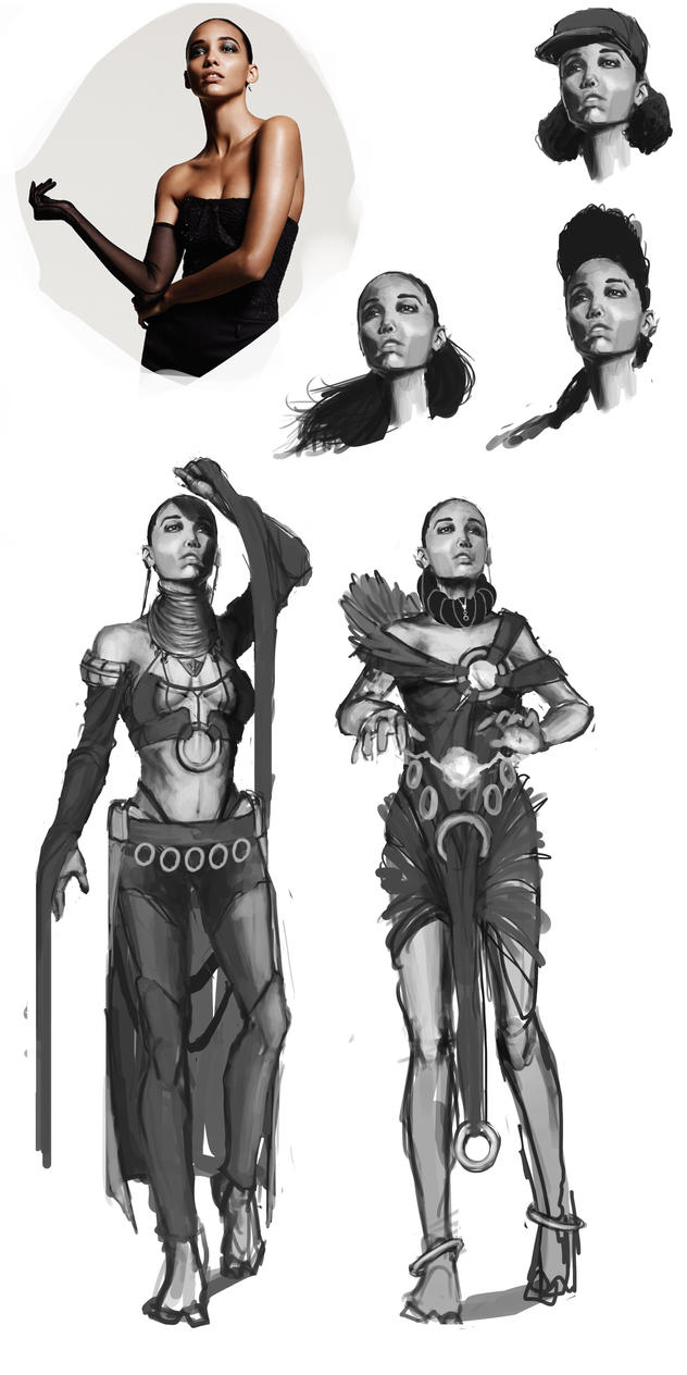 Character Design Practice : Quick character design practice tribal mage by
