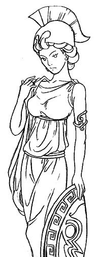 Athena lineart