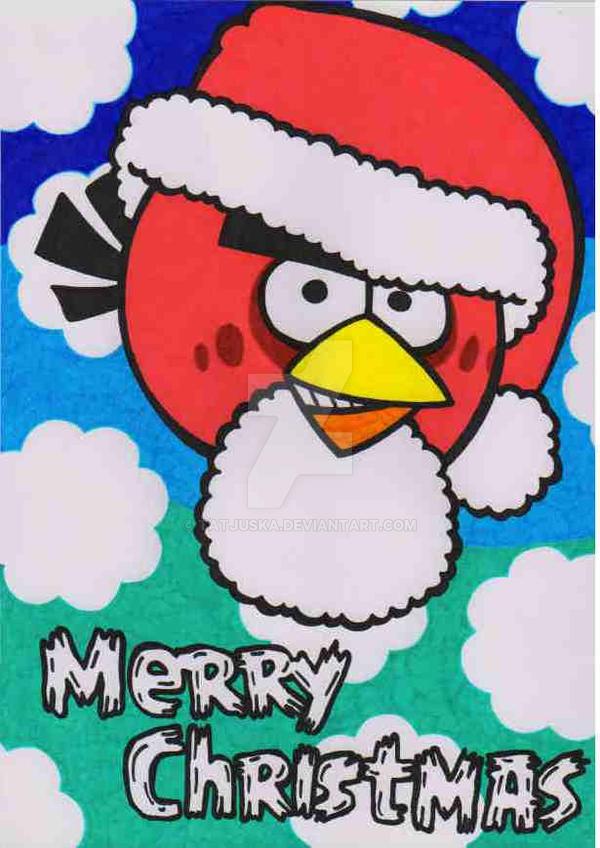 merry christmas angry birds by tatjuska - Christmas Angry Birds