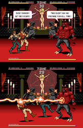 Satan Ninja 198X - Issue 1 Page 3 Pixel Art by JessicaSafron