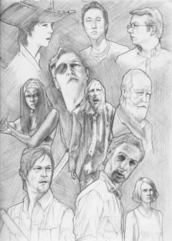The Walking Dead sketchbook page