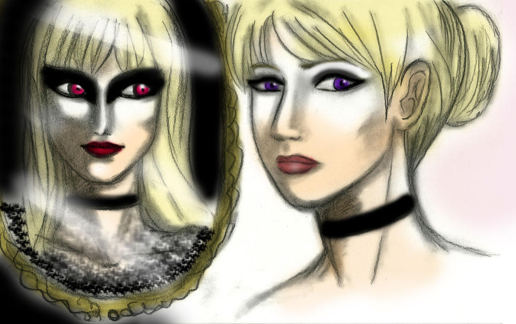 Ballet Anya_White and black Swan_Mirror(colored) by EPH-SAN1634