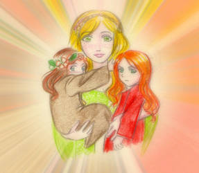 Maternity_Yavanna and little Maiars by EPH-SAN1634