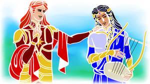 Maedhros and Fingon_Greek Mythology Style