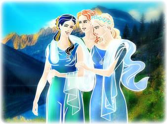 Anaire-Earwen-Nerdanel (Greek Mythology Style) by EPH-SAN1634
