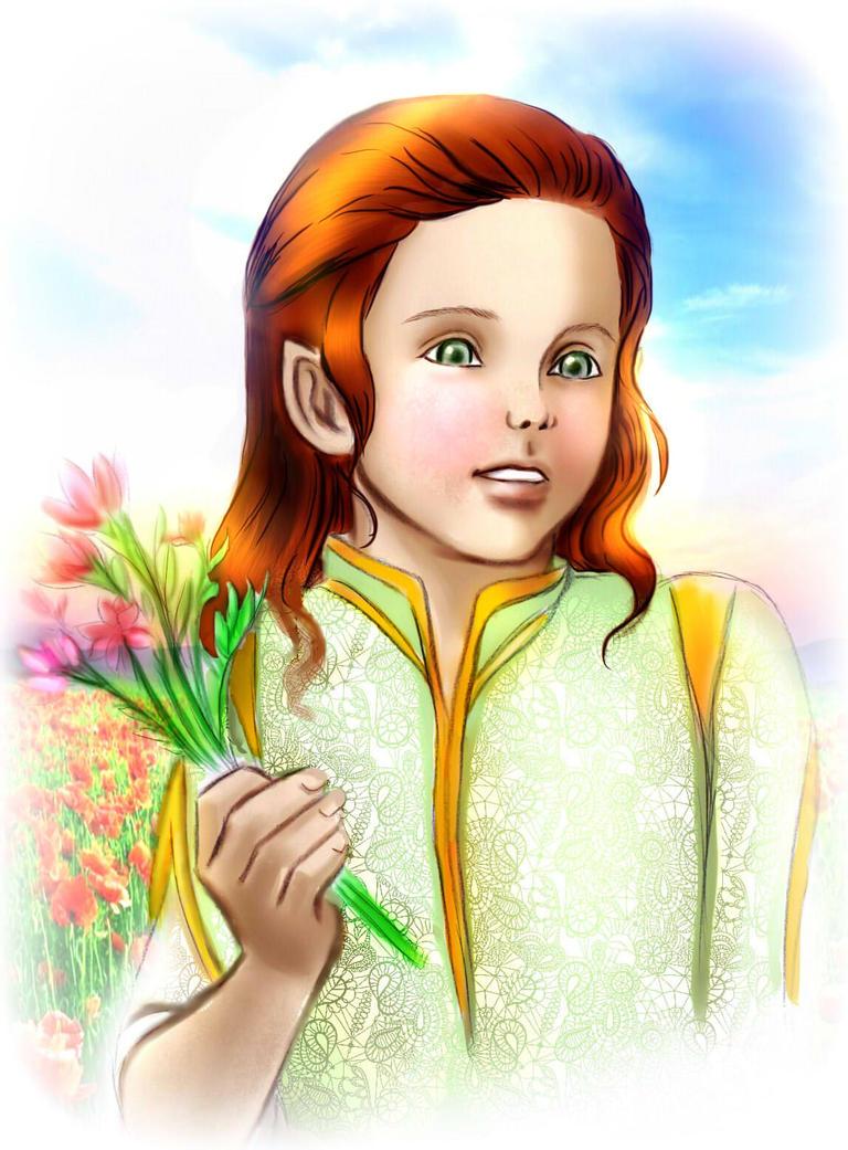 Little Maedhros_Happy Spring Day by EPH-SAN1634