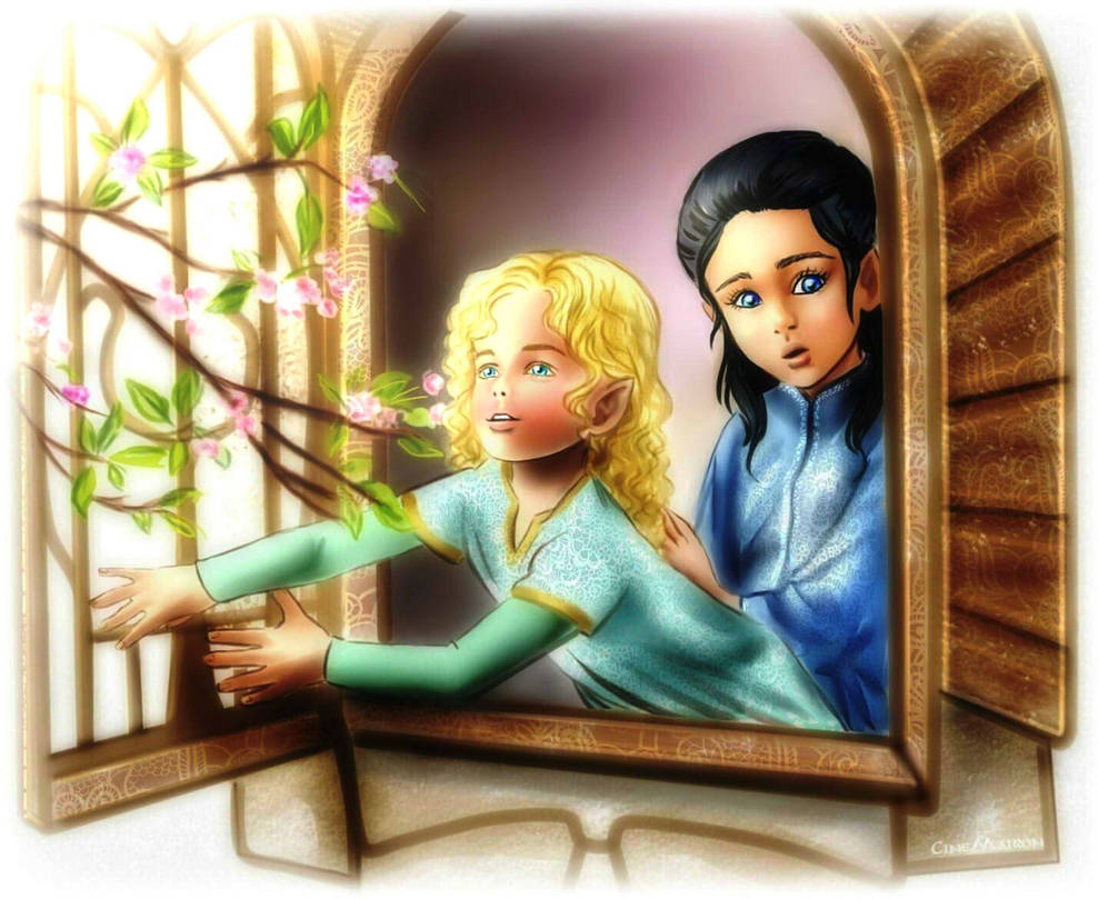 Young Finrod and Turgon by EPH-SAN1634