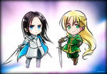 Chibi Ecthelion and Glorfindel(Birthday Present2) by EPH-SAN1634