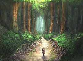 Walking through the forest by TomTC