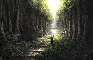Crashing train and Broken Memories by TomTC