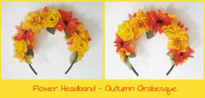 Flower Headband - Autumn Arabesque