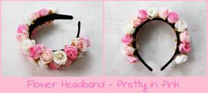 Flower Headband - Pretty in Pink