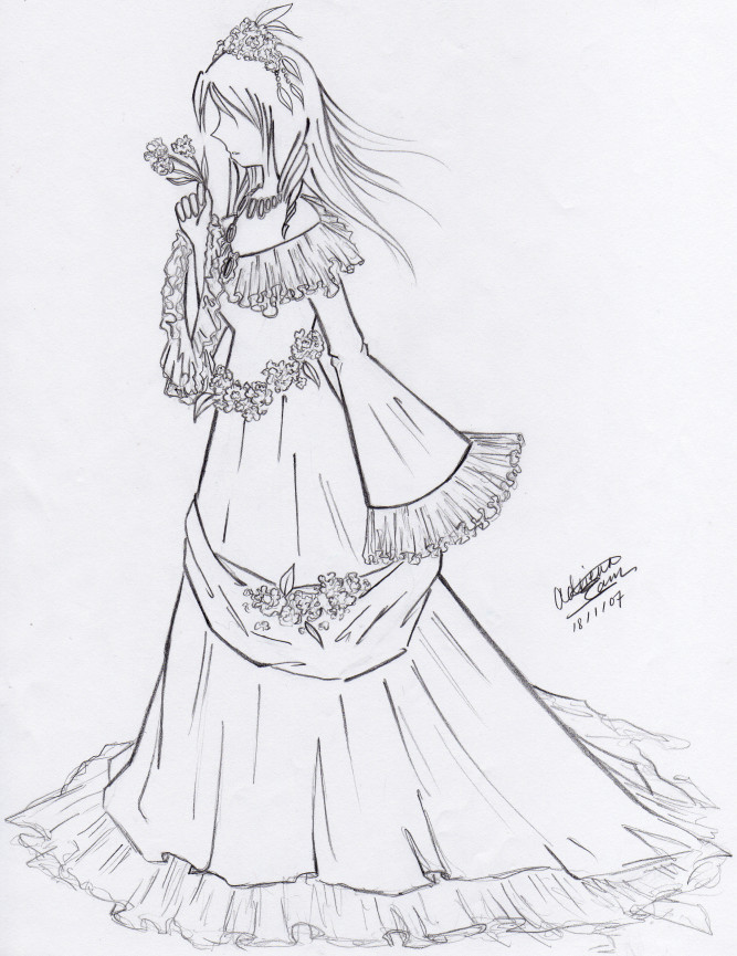 Dress, side view by Feyon