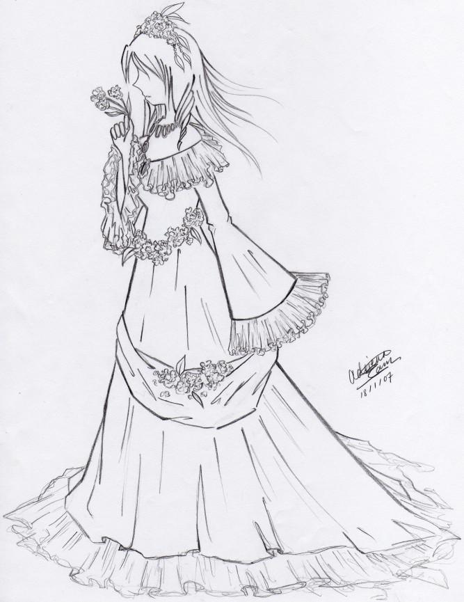Dress, side view by Feyon