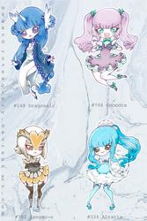 Pokemon Gijinka Girls: DRAGON TYPE by SweetGrotesquery