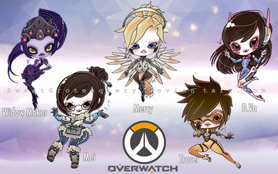 Overwatch Heros by SweetGrotesquery