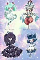 Pokemon Gijinka Girls: PSYCHIC TYPE by SweetGrotesquery