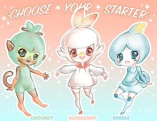 .: Choose Your Starter :. by SweetGrotesquery