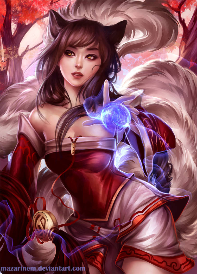 Commission - Ahri, League of Legends by Mazarinem