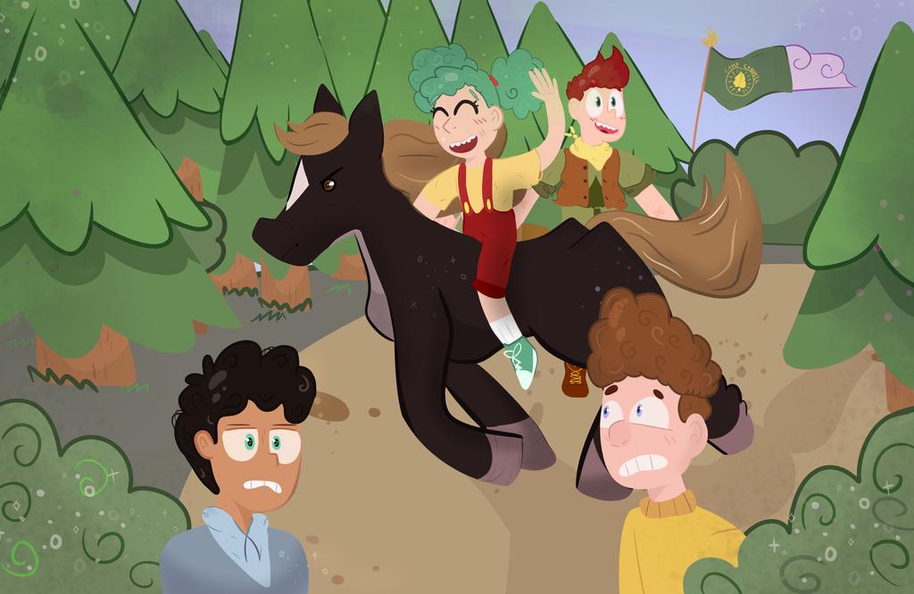 Horse back riding! by PorlsPeaches