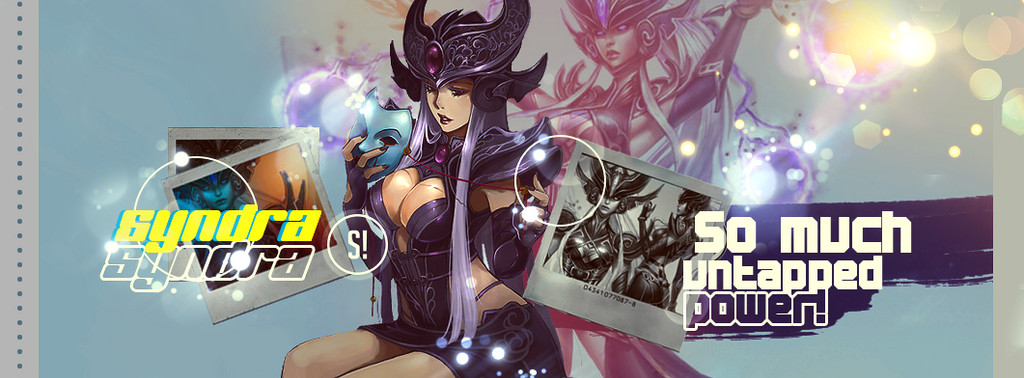 syndra banner pedido by IsabellaxParadise