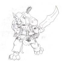 Gnoll warrior by Tattoos80