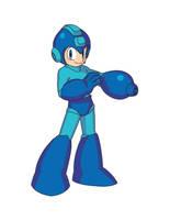 Megaman in Illustrator by Tattoos80