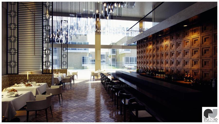 Restaurant - View 001 by nstu3dio