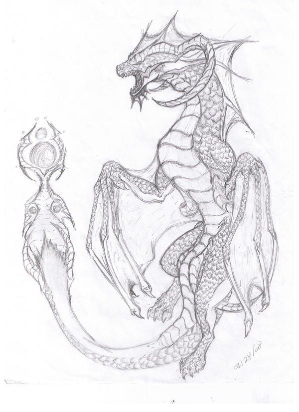 evil dragon by animedomi on DeviantArt