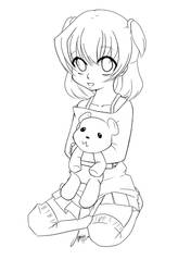 Girl and Bear by Jazzie-Simone