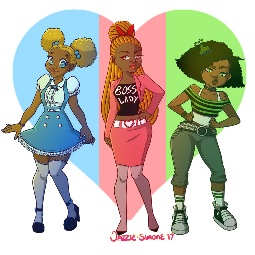 MelaninPuff Girls by Jazzie-Simone
