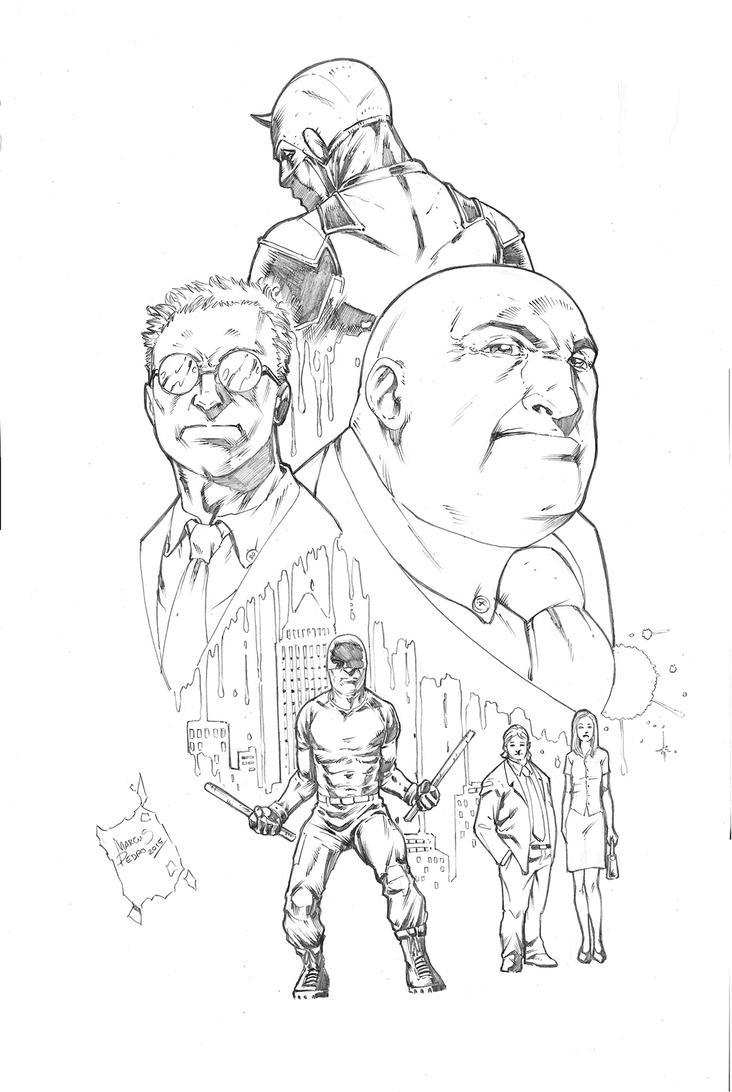 netflix daredevil coloring pages - photo#4