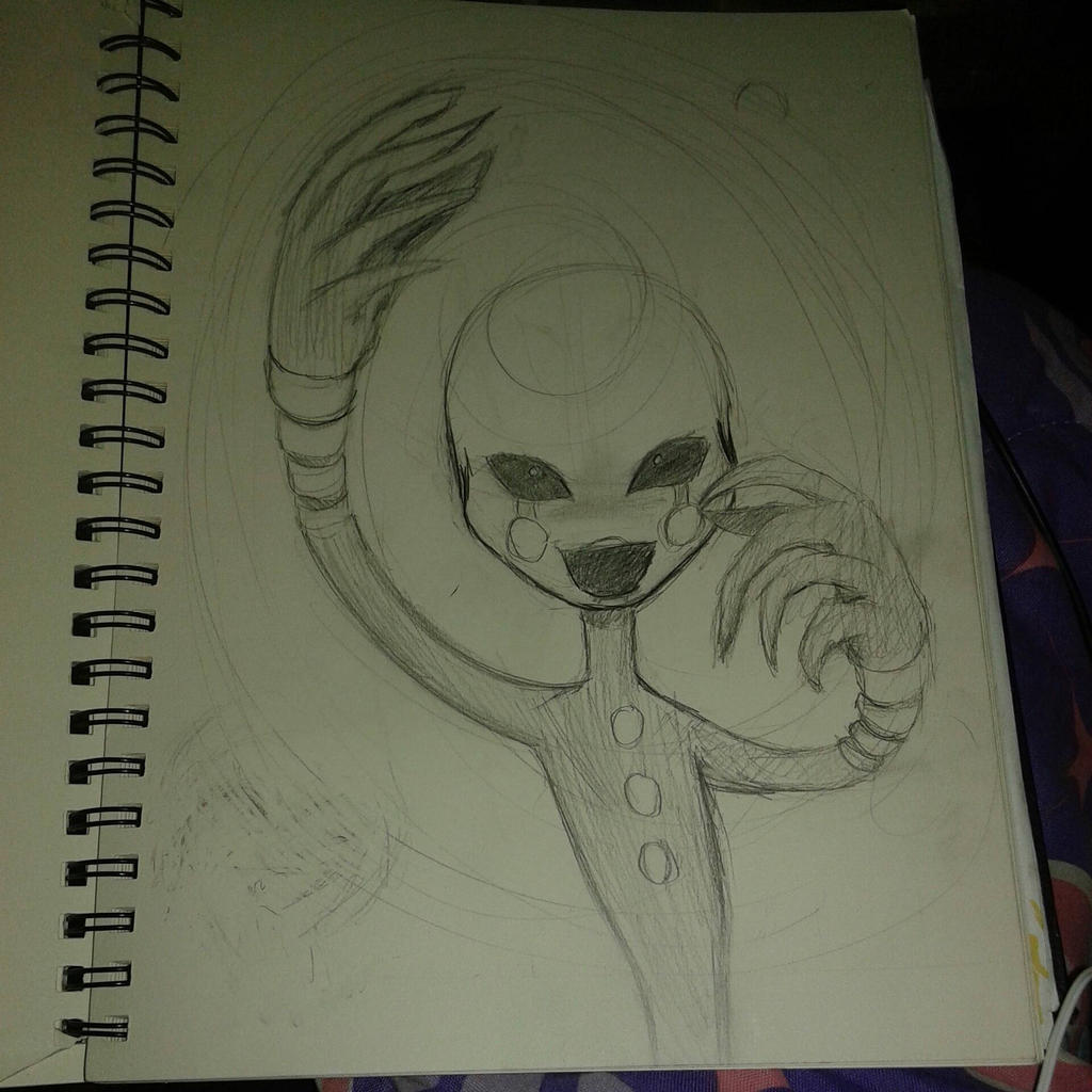 Fnaf puppet sketch by crusniko2lover on deviantart