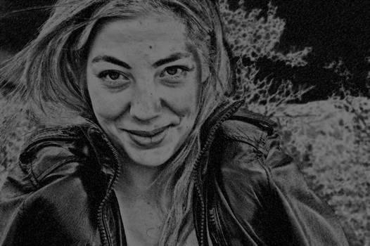 Sarah - Photoshop Charcoal