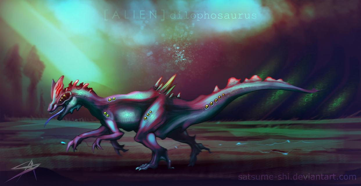 [Alien] Dilophosaurus by satsume-shi